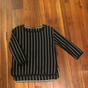 Rag & Bone  3/4-Sleeve Striped Pullover
